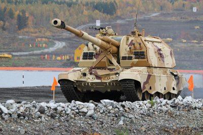 Артиллеристы в Кузбассе получили самоходные гаубицы