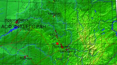 В Кузбассе произошло землетрясение магнитудой 2,8