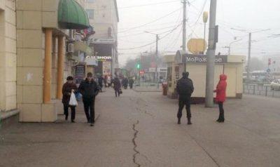 На привокзальной площади Новокузнецка ликвидировали незаконную торговлю