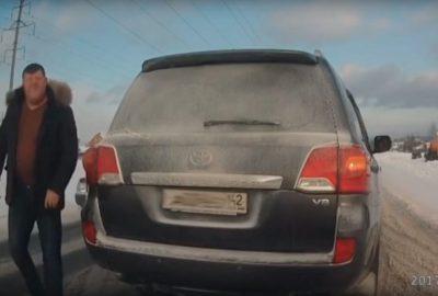 Кузбасская полиция привлекла к ответственности зачинщика дорожного конфликта
