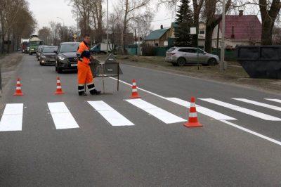 В Кемерове специалисты обновили почти 100000 метров дорожной разметки