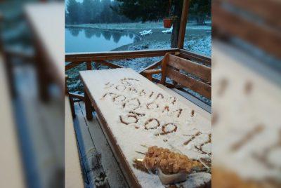 На Алтае начали лепить снеговиков