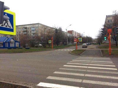 На кемеровском перекрёстке заработали новые светофоры