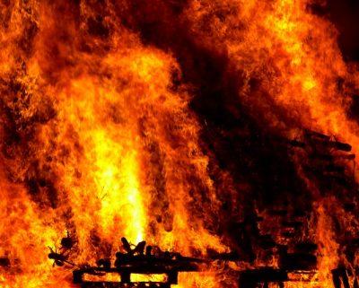 Ночью в Мариинске горело кафе
