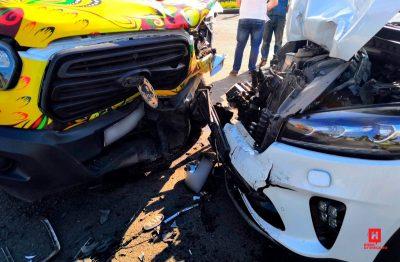 В Новокузнецке в массовом ДТП пострадали семь человек