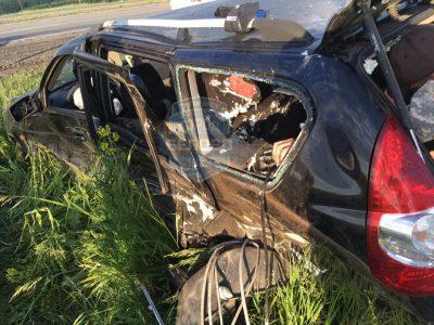 Авто всмятку: видео пьяного тройного ДТП с пострадавшими в Кузбассе