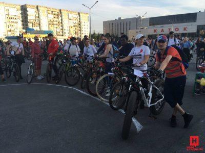 Африканец поучаствовал в велопробеге в Кузбассе