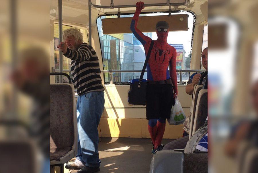 Фото: в Кемерове заметили настоящего человека-паука