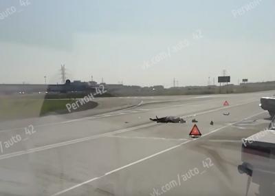 В тройном ДТП под Кемеровом погиб мотоциклист