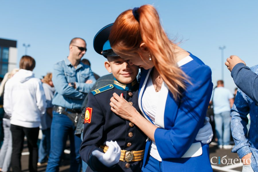 Как в Кемерове открывали новую «кадетку»