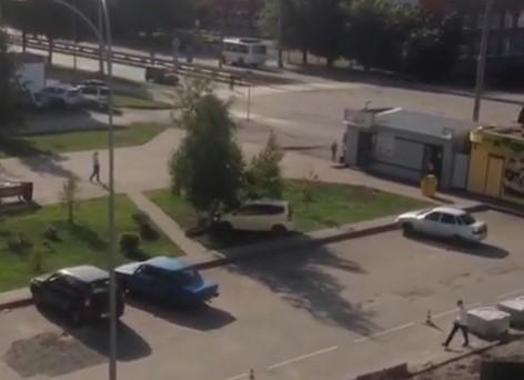 Видео: в Кемерове автомобилист специально пытался сбить дерево?