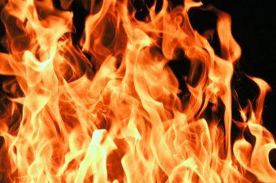 Ночью в Кемерове произошёл крупный пожар