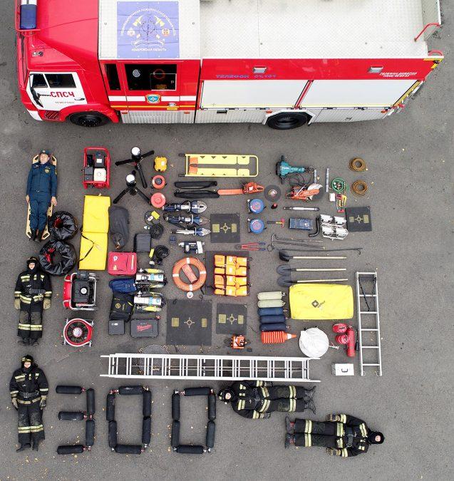 Кузбасские пожарные «сыграли» в тетрис